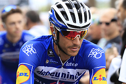 Eros Capecchi (ITA) Deceuninck-Quick Step arrives at sign on before the start of Stage 4 of La Vuelta 2019 running 175.5km from Cullera to El Puig, Spain. 27th August 2019.<br /> Picture: Eoin Clarke | Cyclefile<br /> <br /> All photos usage must carry mandatory copyright credit (© Cyclefile | Eoin Clarke)