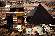 Aerial view of Luxor casino Las Vegas, Nevada