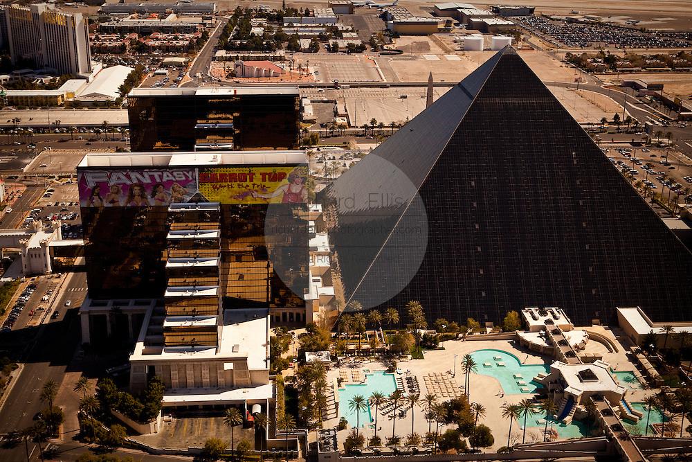 Aerial view of Luxor casino Las Vegas, Nevada