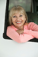 Smiling Woman in RV