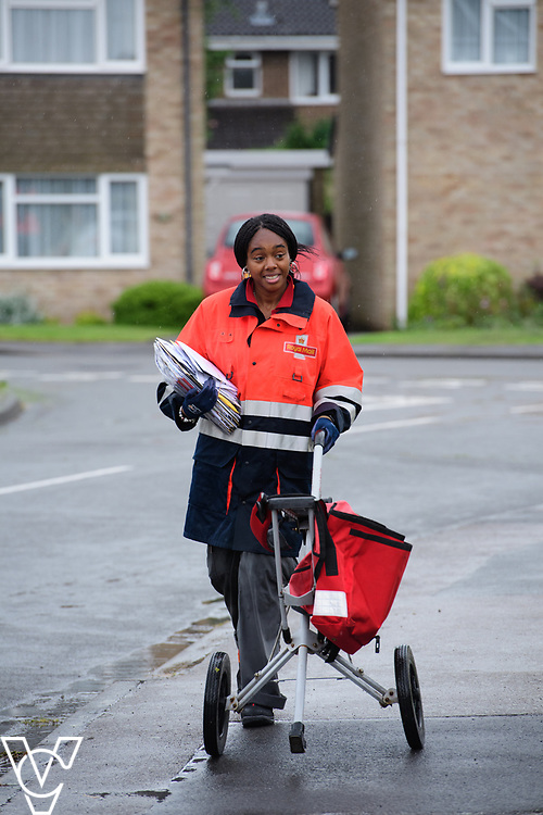 Royal Mail Rugby mail processing unit - stock photography.  Jodyne Henry on delivery.<br /> <br /> Picture: Chris Vaughan Photography<br /> Date: June 6, 2017