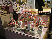 Japan, Tokyo, Shop window displays chocolates and petitfours