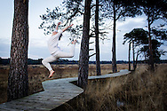 Pictures from the Actual Size dance company shoot at Thursley Common, Hampshire, UK on Sunday the 13th of January 2013. Copyright Andrew Tobin 07710 761829
