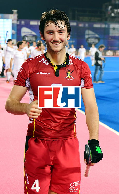 Odisha Men's Hockey World League Final Bhubaneswar 2017<br /> Match id:18<br /> Belgium v Spain<br /> Foto: Belgium wins from Spain<br /> Arthur van Doren (Bel) <br /> COPYRIGHT WORLDSPORTPICS FRANK UIJLENBROEK