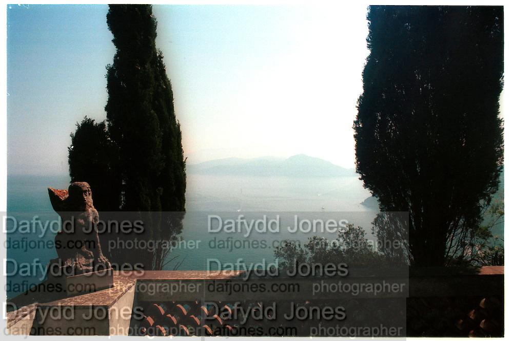 View from Axel Munthe's house. Capri, May 1997, © Copyright Photograph by Dafydd Jones 66 Stockwell Park Rd. London SW9 0DA Tel 020 7733 0108 www.dafjones.com