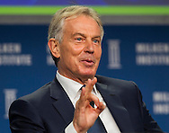 """Tony Blair, former Prime Minister of Great Britain and Northern Ireland, in a panel """"Global Overview: Where Does Growth Come From?"""" during the Milken Institute Global Conference on Monday, April 28, 2014 in Beverly Hills, California. (Photo by Ringo Chiu/PHOTOFORMULA.com)"""