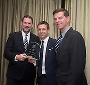Dundee FC directors John Nelms and Tim Keyes with Neil McCann as the former Dens winger is inducted into Dundee FC Hall of Fame 2016 - at the Invercarse Hotel<br /> <br />  - &copy; David Young - www.davidyoungphoto.co.uk - email: davidyoungphoto@gmail.com