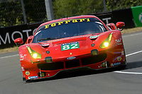 Giancarlo Fisichella (ITA) / Toni Vilander (FIN) / Matteo Malucelli (ITA) #82 RISI Competizone Ferrari 488 GTE,  during Le Mans 24 Hr June 2016 at Circuit de la Sarthe, Le Mans, Pays de la Loire, France. June 15 2016. World Copyright Peter Taylor/PSP. Copy of publication required for printed pictures.  Every used picture is fee-liable. http://archive.petertaylor-photographic.co.uk