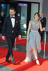 LIVERPOOL, ENGLAND - Thursday, May 12, 2016: Liverpool FC TV presenter Claire Rourke and John Fennell arrive on the red carpet for the Liverpool FC Players' Awards Dinner 2016 at the Liverpool Arena. (Pic by David Rawcliffe/Propaganda)