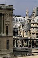 France. Paris. 1st district. Elevated view. oratoire du louvre and the louvre. view from l'Hôtel de la Place du Louvre