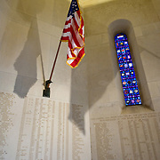 In the chapel of Somme American Cemetery and Memorial located in Bony, Aisne, Picardy, France. It contains the graves of 1,844 of the United States' military dead from World War I