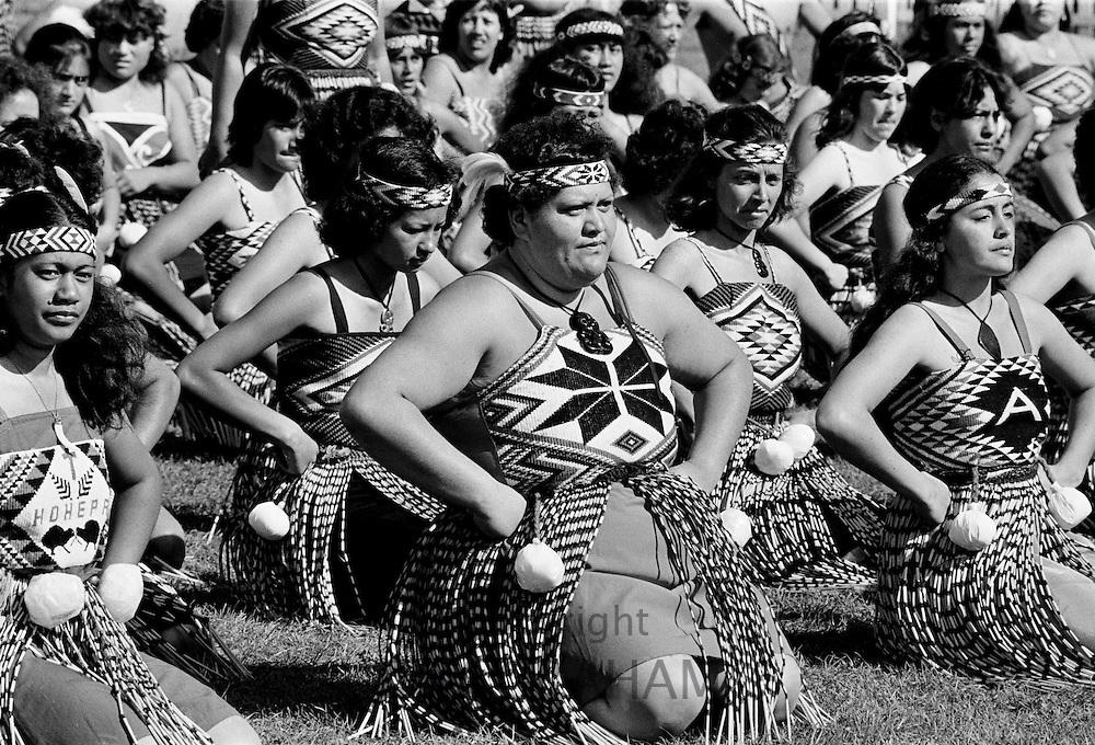 Traditional maori ceremony, New Zealand