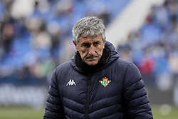 February 10, 2019 - Madrid, Madrid, Spain - Real Betis Balompie's coach Quique Setien during La Liga match between CD Leganes and Real Betis Balompie at Butarque Stadium in Madrid, Spain. February 10, 2019. (Credit Image: © A. Ware/NurPhoto via ZUMA Press)