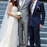 NLD/Tilburg/20110618 - Huwelijk Joris Mathijsen en Christel van Rijn, met ontwerper Addy van den Krommenacker