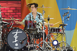 August 10, 2018 - New York, NY, USA - August 10, 2018 New York City..Matt McGuire of The Chainsmokers performing on Good Morning America's Summer Concert Series in Central Park on August 10, 2018 in New York City. (Credit Image: © Kristin Callahan/Ace Pictures via ZUMA Press)