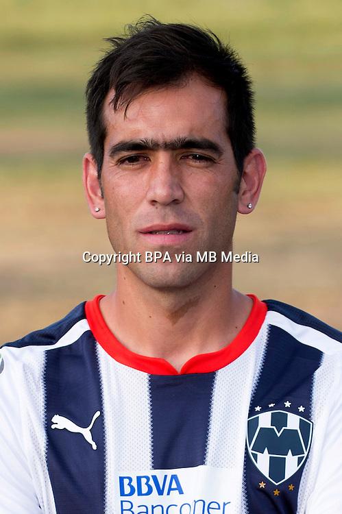 "Mexico League - BBVA Bancomer MX 2014-2015 -<br /> Rayados - Club de Futbol Monterrey / Mexico - <br /> Cesar Fabian Delgado Godoy "" Cesar Delgado """
