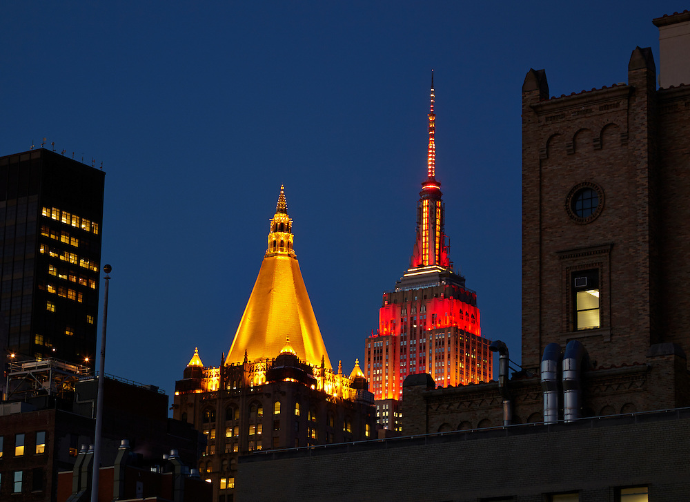 View of the New York Life Insurance building and Empire State Building from 44 Gramercy Park North, 13th floor