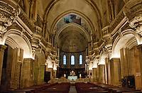 Spacious chapel interior at Avignon, France.