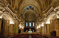 Spacious chapel interior at Avignon, France.