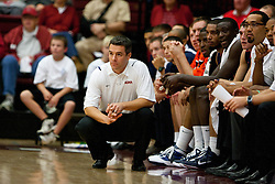 November 18, 2010; Stanford, CA, USA;  Virginia Cavaliers head coach Tony Bennett watches his team play against the Stanford Cardinal during the first half at Maples Pavilion.  Stanford defeated Virginia 81-60.