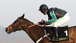 Altior ridden by Nico de Boinville on the way to winning The Unibet Desert Orchid Chase during day two of 32Red Winter Festival at Kempton Park Racecourse.