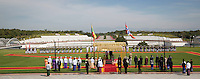 Nay Pyi Taw, 2014121: King Harald and Queen Sonja in Nay Pyi Taw fo the three day stat visit. Here at the presidential palace meeting President U Thein Sein and First Lady Daw Khin Win.   PHOTO by TOM HANSEN