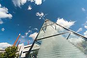 Zwiesel Kristallglas AG, Glaspyramide, Zwiesel, Bayerischer Wald, Bayern, Deutschland   Zwiesel Glass factory, glass pyramid, Zwiesel, Bavarian Forest, Bavaria, Germany