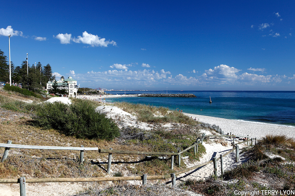 Cottesloe Beach on a summer day.