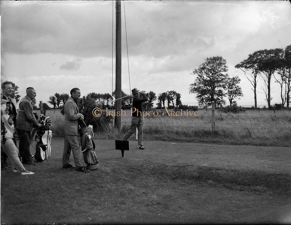 20/07/1962<br /> 07/20/1962<br /> 20 July 1962<br /> Woodbrook Irish Hospitals' Golf Tournament at Woodbrook Golf Course, Dublin. Kel Nagle (Australia) drives off the 2nd Tee at Woodbrook this morning.