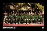 2000-01 Miami Hurricanes Men's Track Team Photo<br /> <br /> Caneshooter Archive Scan
