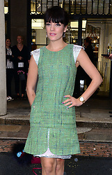Lily Allen attends CHANEL Beauty VIP as French fashion house hosts afternoon tea at CHANEL, Covent Garden, London, United Kingdom. Thursday, 1st May 2014. Picture by Nils Jorgensen / i-Images