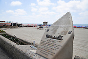 Israel, Tel Aviv Memorial for the IZL arms ship Altalena on the beachfront