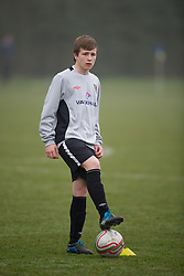 CARDIFF, WALES - Thursday, March 15, 2012: Wales U16's Joe McNulty (Bristol City FC & Duffryn High School) during a training session at the Glamorgan Sports Park. (Pic by David Rawcliffe/Propaganda)