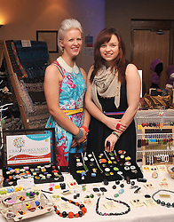 Sarah Heffernan and Dee Slattery of Me & Dee Designs, Claremorris Co Mayo at the launch of Craftworks Mayo Winter Expo that took place in the Wyatt Hotel over the weekend..Pic Conor McKeown