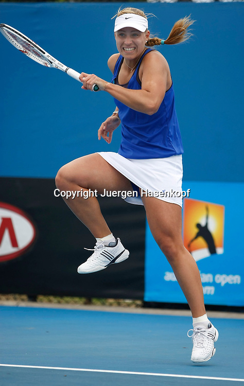 Australien, Melbourne, Sport, Tennis, Grand Slam Tournament, Melbourne Park, Australian Open 2010,..Angelique Kerber (GER),..Foto: Juergen Hasenkopf..