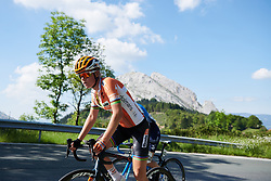 Amalie Dideriksen (DEN) on the Urkiola climb at Emakumeen Bira 2018 - Stage 4, a 120 km road race starting and finishing in Durango, Spain on May 22, 2018. Photo by Sean Robinson/Velofocus.com