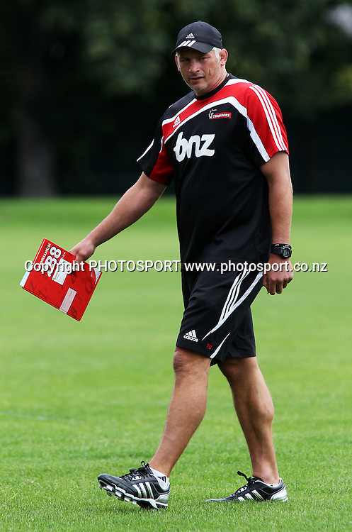 Crusaders coach Todd Blackadder during a training session at Rugby Park in Christchurch, New Zealand. 18 January 2010. Photo: Andrew Cornaga/PHOTOSPORT