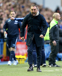 Sheffield Wednesday Manager Carlos Carvalhal looks frustrated after seeing Fernando Forestieri's goal disallowed - Mandatory by-line: Robbie Stephenson/JMP - 13/05/2016 - FOOTBALL - Hillsborough - Sheffield, England - Sheffield Wednesday v Brighton and Hove Albion - Sky Bet Championship Play-off Semi Final first leg