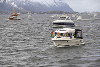 17. mai feiring med båtparade i Ålesund under Covid-19 pandemien.