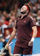 JO-WILFRIED TSONGA (FRA) reagiert veraergert,AEinzelbild, Halbkoerper,Emotion, Aerger, Frust, <br /> <br /> Tennis - ERSTE BANK OPEN 2017 - ATP 500 -  Stadthalle - Wien -  - Oesterreich  - 28 October 2017. <br /> © Juergen Hasenkopf