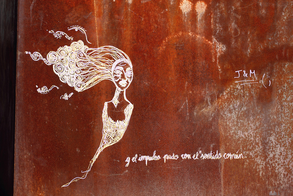 Graffiti in Bilbao, along the Muelle de Evaristo de Churruca - the walkway along the river Nervión.
