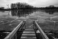 The skating rink was closed at Warner Park because of warm temperatures Thursday, Jan. 11, 2018 in Madison, Wisconsin.