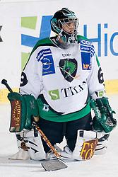 Goalie Matija Pintaric (HDD Tilia Olimpija, #69) during ice-hockey match between HDD Tilia Olimpija and EHC Liwest Black Wings Linz in 19th Round of EBEL league, on November 7, 2010 at Hala Tivoli, Ljubljana, Slovenia. (Photo By Matic Klansek Velej / Sportida.com)