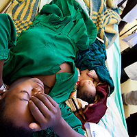 A patient recovers after giving birth by emergency Cesearean Section in Motta, Ethiopia