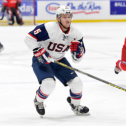 WHITBY, - Dec 17, 2015 -  Game #10 - United States vs. Russia at the 2015 World Junior A Challenge at the Iroquois Park Recreation Complex, ON. Ryan Zuhlsdorf #5 of Team United States during the first period.<br /> (Photo: Shawn Muir / OJHL Images)