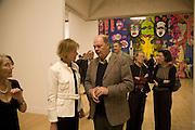 Julia Peyton-Jones and Nicholas Logsdail, Turner Prize: A Retrospective. Opening party. Tate Millbank. London. 2 October 2007. -DO NOT ARCHIVE-© Copyright Photograph by Dafydd Jones. 248 Clapham Rd. London SW9 0PZ. Tel 0207 820 0771. www.dafjones.com.