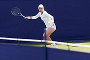 Anna Blinkova of Russia in action during the Women's Singles Quarter Final at the Fuzion 100 Ilkley Lawn Tennis Trophy Tournament held at Ilkley Lawn Tennis and Squad Club, Ilkley, United Kingdom on 19 June 2019.