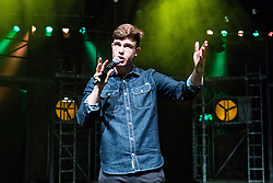 The Pleasance venue launched its 2017 Edinburgh Fringe Festival programme hosted by comedian Ed Gamble<br /> <br /> Pictured: MC for the launch, comedian Ed Gamble