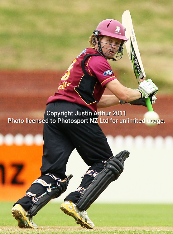James Marshall in action. Ford Trophy - Wellington Firebirds v Northern Knights, Hawkins Basin Reserve, Wellington, New Zealand on Wednesday 14 December2011. Photo: Justin Arthur / Photosport.co.nz