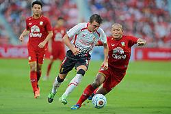 BANGKOK, THAILAND - Sunday, July 28, 2013: Liverpool's Iago Aspas in action against Thailand XI during a preseason friendly match at the Rajamangala National Stadium. (Pic by David Rawcliffe/Propaganda)
